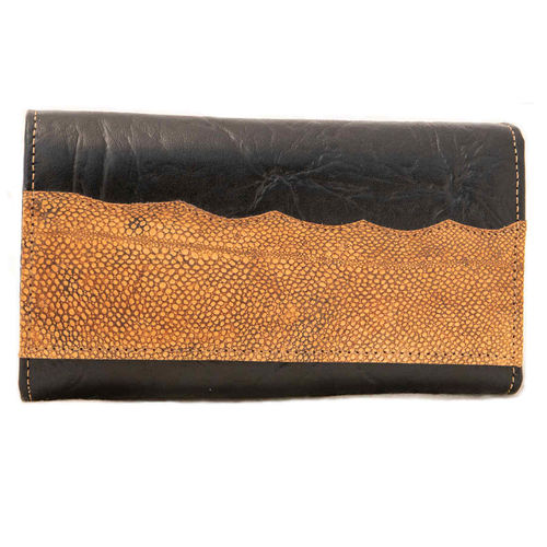 Women's purse, decorated with burbot leather