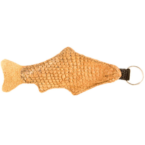 Floating Key Chain, big, salmon skin leather