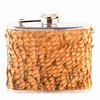 Hip flask 12 cl, pike skin leather