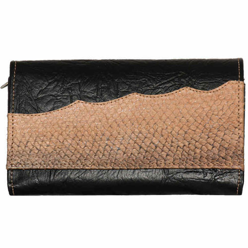 Women's purse, decorated with Salmon leather