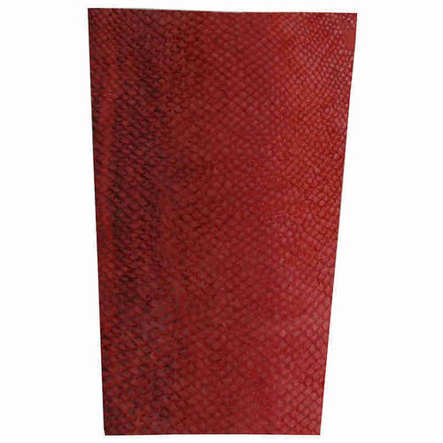 Piece of red Salmon leather for knife sheath, small