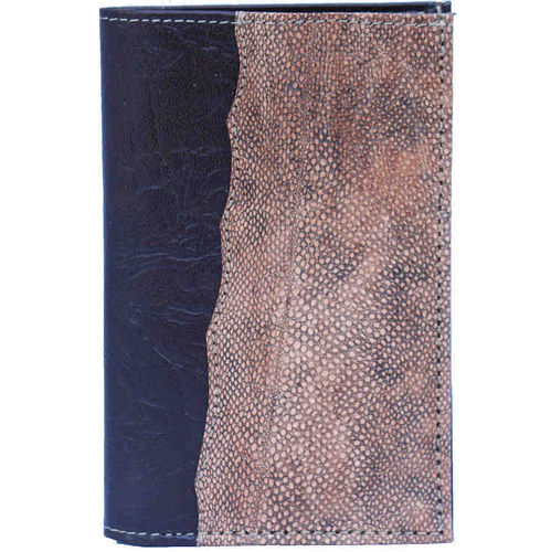 Fish Timmy Wallet, decorated with burbot skin leather